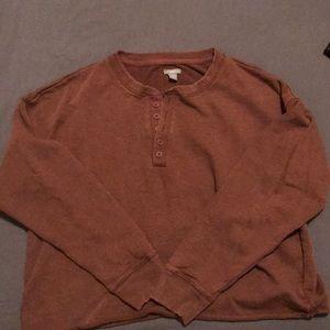 Boxy cropped sweatshirt